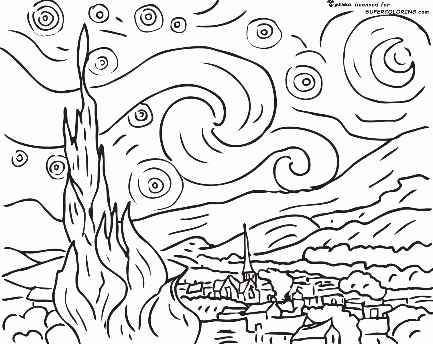 famous art coloring pages for kids famous paintings colouring
