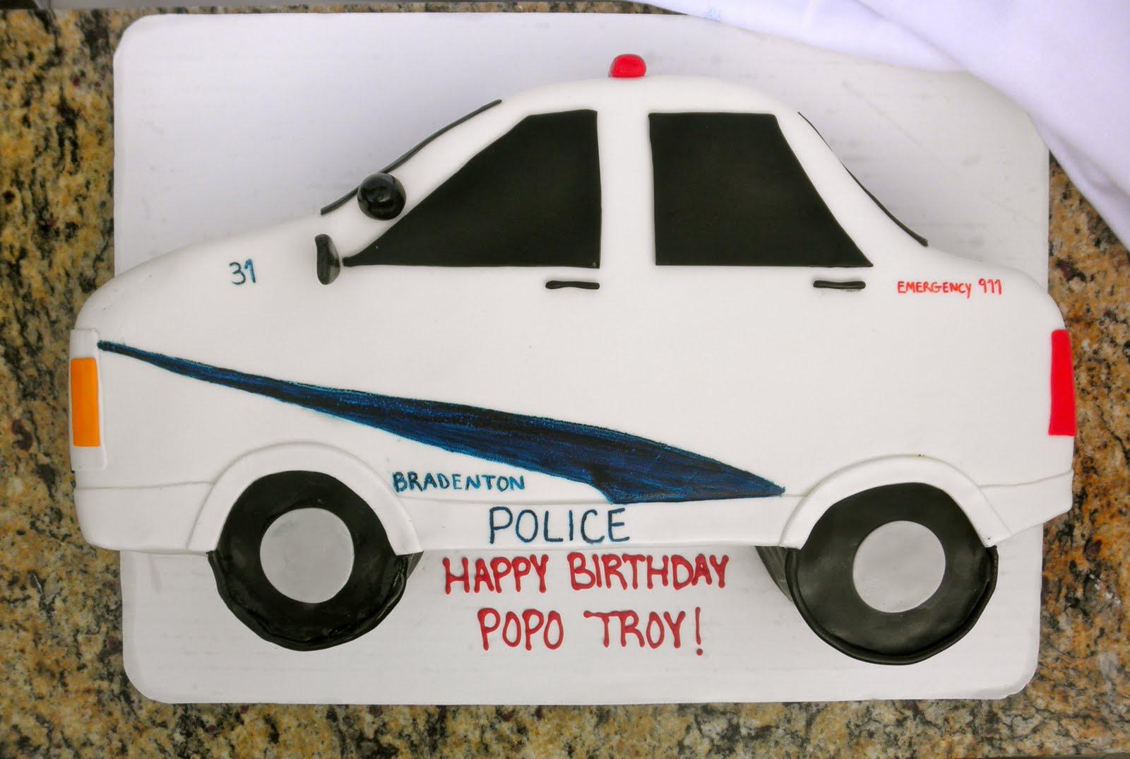 Sweet Ts Cake Design Bradenton Police Car Birthday Cake