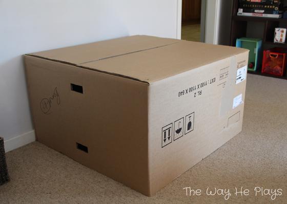 Cardboard Cubby House - Play Adventures