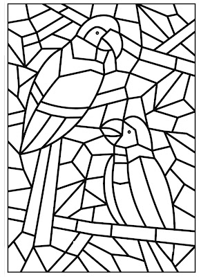Mosaico - Flor - Arara