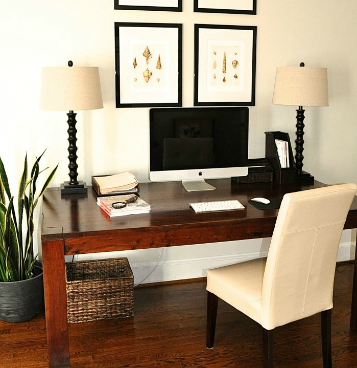 the collected interior: re-purpose a dining room table into a desk