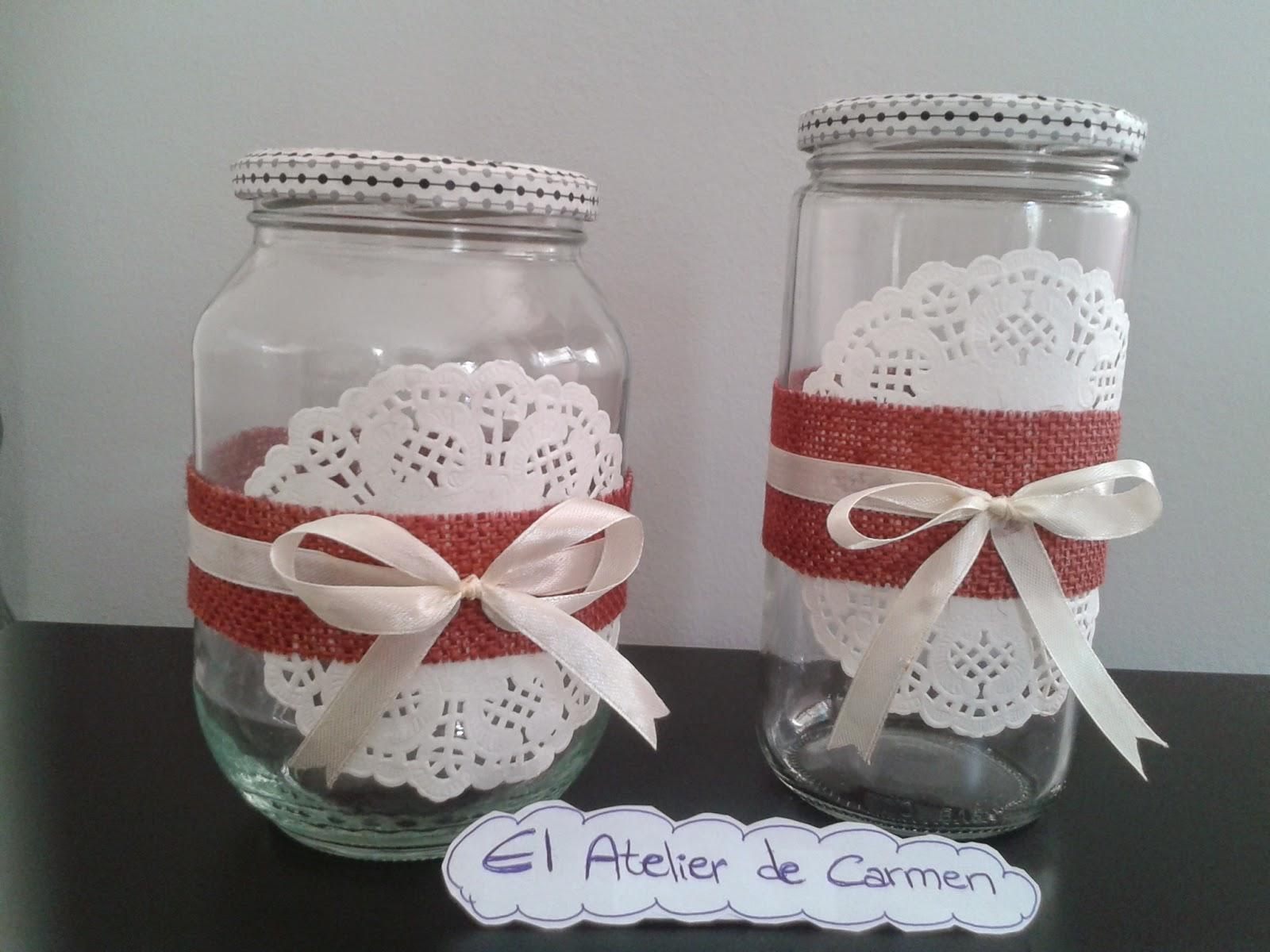 El atelier de carmen frascos tarros botes de cristal - Materiales de jardineria ...