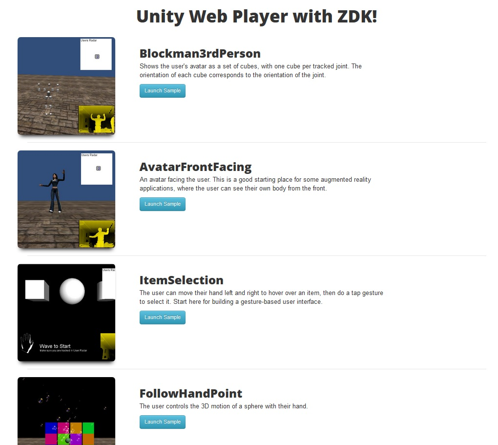 Unity kinect and zigfu pixel meal