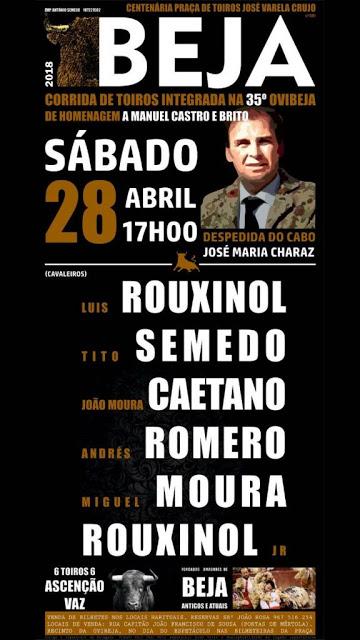 BEJA (PORTUGAL) 28-04 2018. CORRIDA A PORTUGUESA.