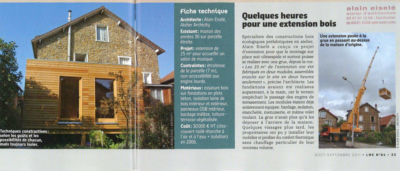 Archicity actualit s et v nements agrandir sa maison for Acheter une maison en region parisienne