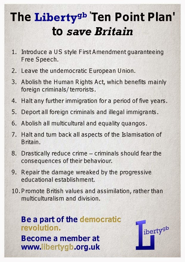 Liberty GB Ten Point Plan leaflet
