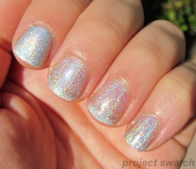 silver linear holo polish comparison, swatches