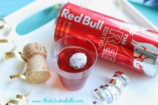 ... make cranberry Redbull and vodka shots with a sugared cranberry. Yum