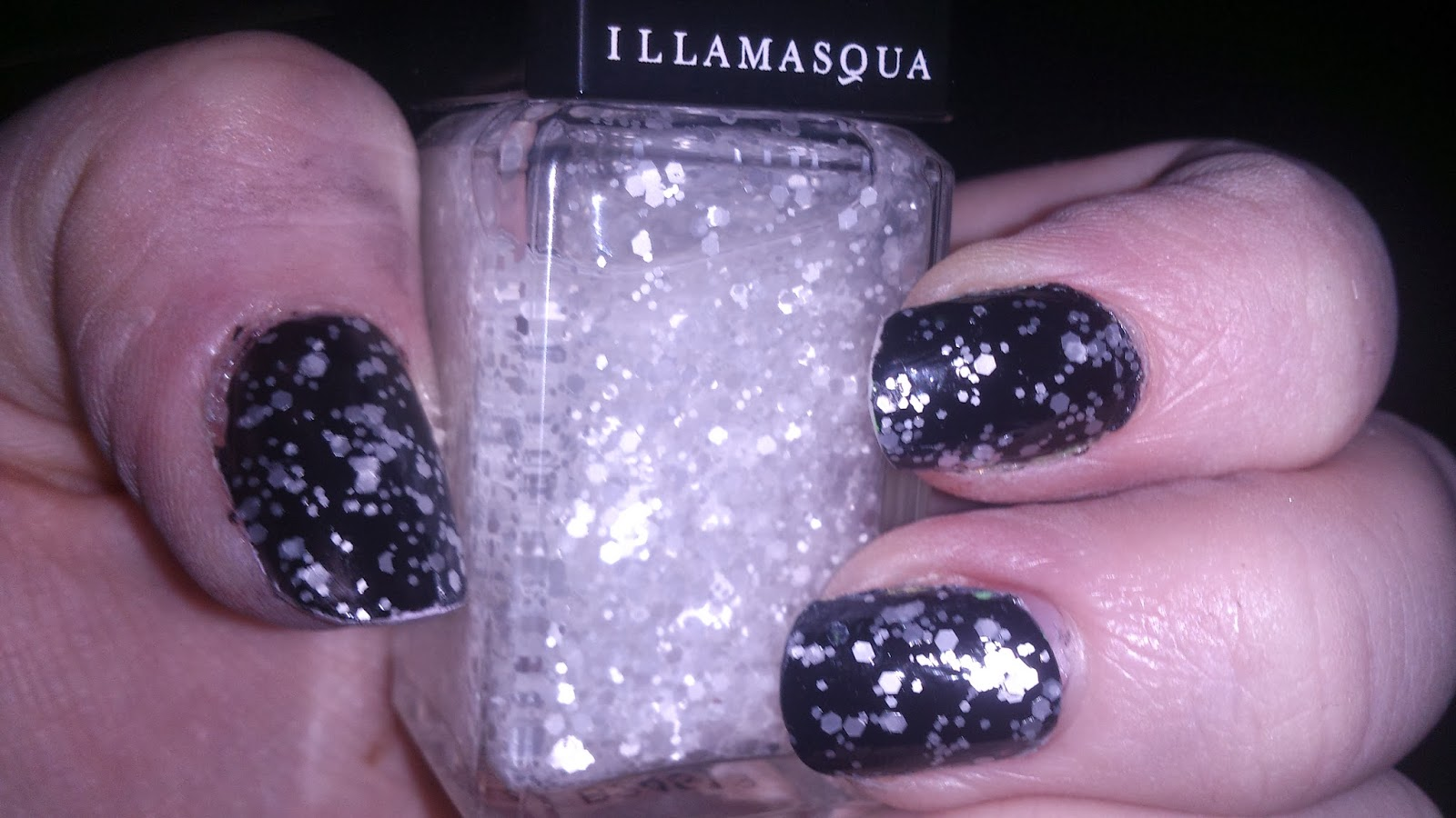 Have yourself a selfish little christmas with illamasqua one coat is all you need for easy nail art for the party season wear alone for a subtle shimmer or over boosh black nail polish to really stand out solutioingenieria Gallery