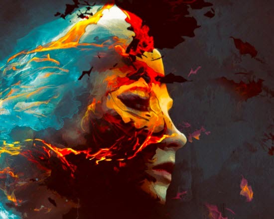Create A Colorful Fiery Portrait in Photoshop