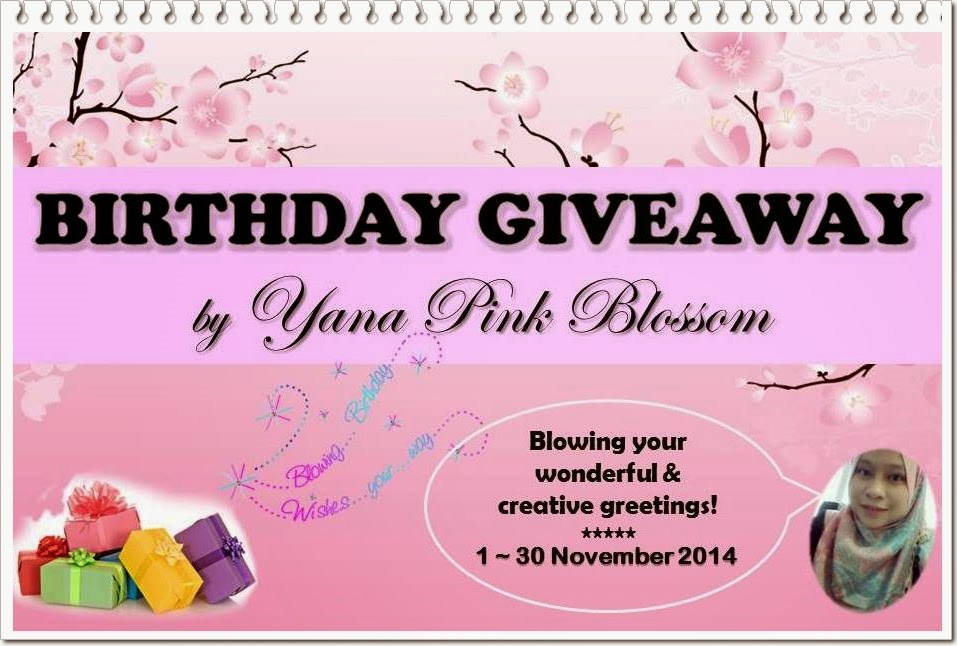 Birthday Giveaway by Yana Pink Blossom