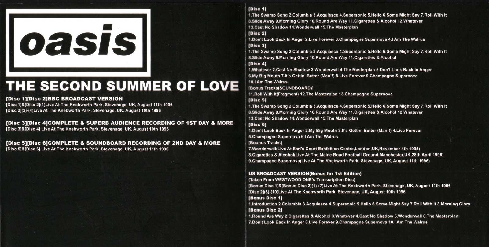 Oasis - Second Summer Of Love