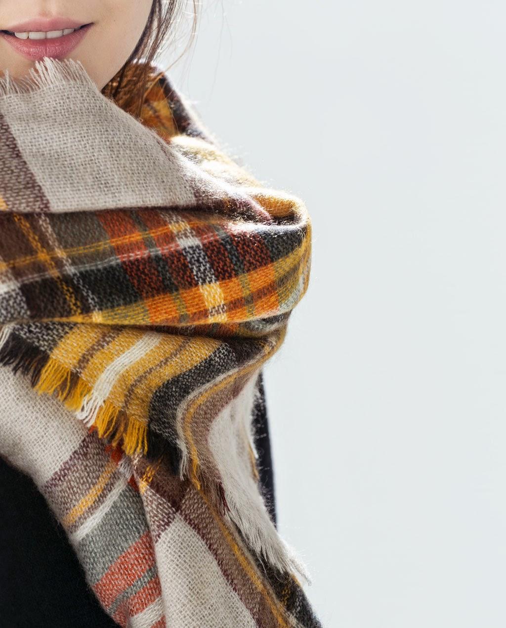 bufanda cuadros Zara