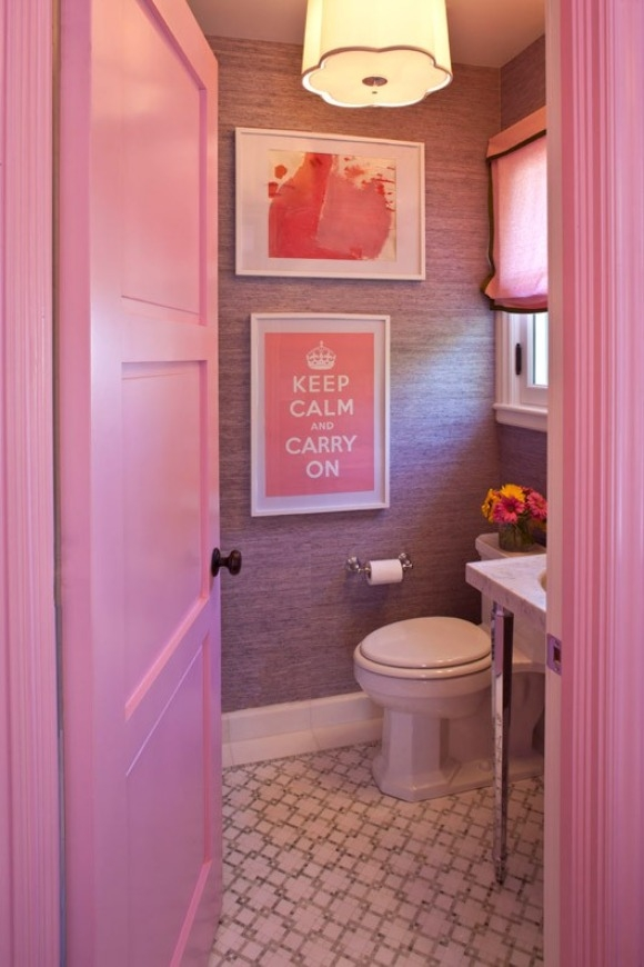 The peak of tr s chic monday morning inspiration well Pretty powder room ideas