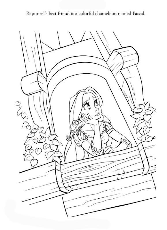 Princess Rapunzel Coloring Pages Picture title=