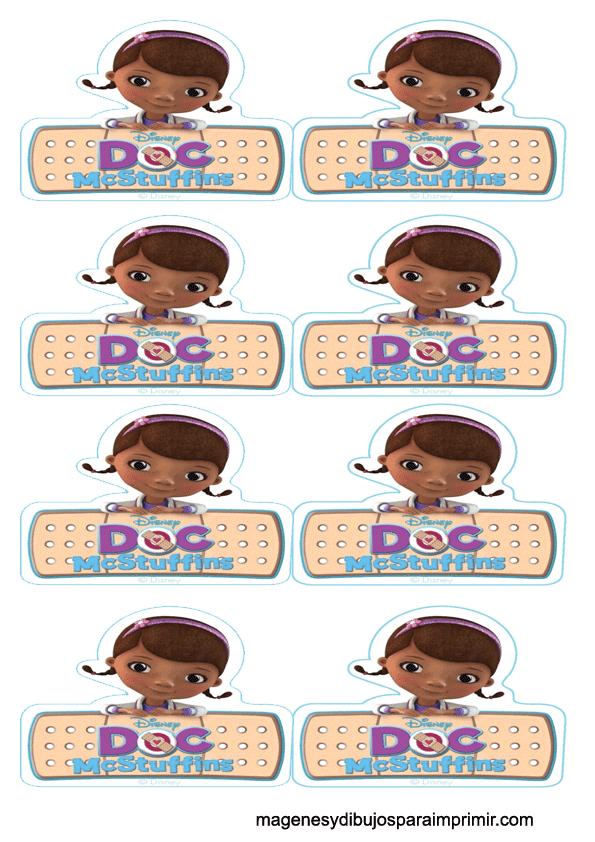 Doctora juguetes y logotipo para cupcakes