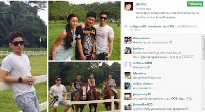 Although Xian was not in the photo that JP (Kim's brother) posted on