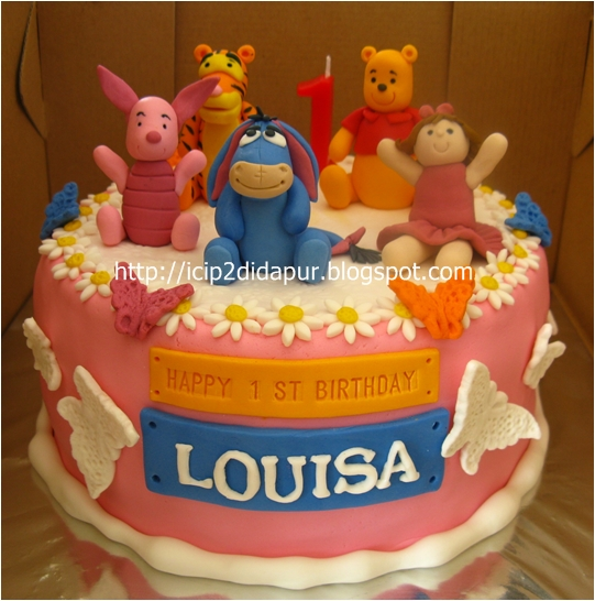 ICIP-ICIP DI DAPUR: Pooh & friends Birthday Cake for Louisa