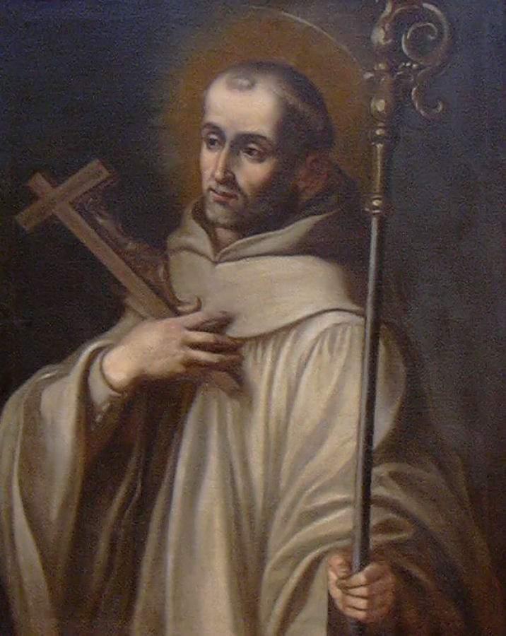 São Bernardo de Claraval, grande propagador da devoção a Nossa Senhora,  foi incansável pregador das Cruzadas. Vicente Berdus Osorio (1671-1673)