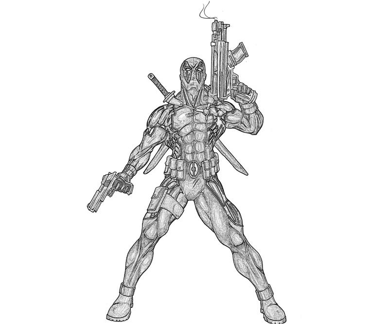 Deadpool Character Coloring Pages title=