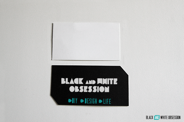 Brand-erific DIY Business Cards: Stand out in a subtle way | www.blackandwhiteobsession.com