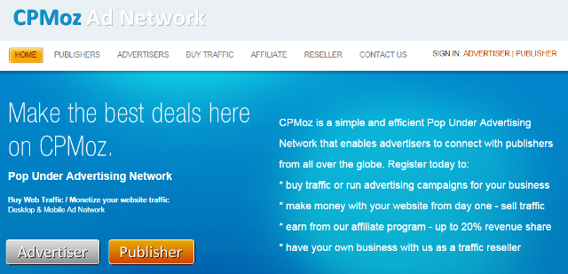 CPMoz Adnetwork Full Wiki Review 1