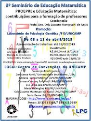 3º SEMINÁRIO DE EDUCAÇÃO MATEMÁTICA