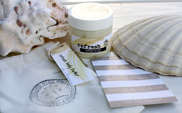 Image of the Island Girl Co. Refresh Body Butter packaging