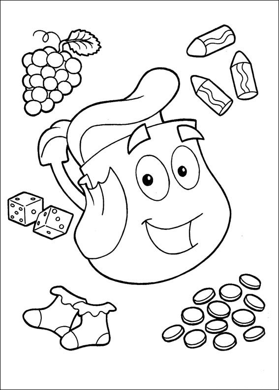 doras backpack coloring pages - photo #39
