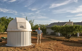 Bruce Gary at his observatory in Arizona, USA