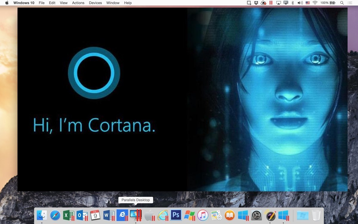 parallels 11 cortana on mac os
