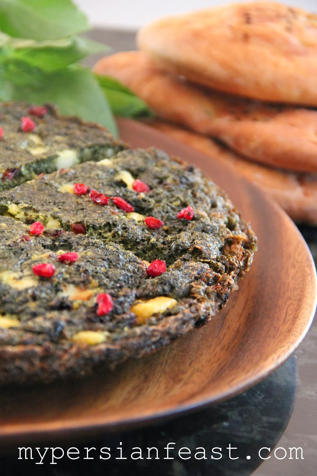 My Persian Feast: Herb Frittata with Feta and Barberries - Kuku Sabzi ...
