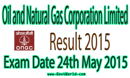 ONGC Assistant Technician Result 2015