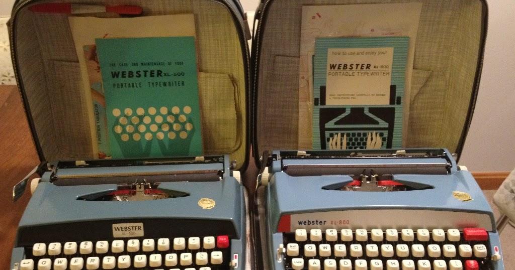 Webster xl 500 typewriter