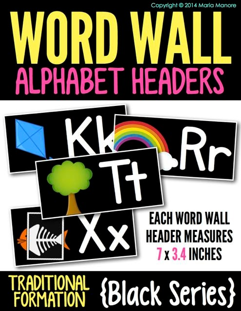 Alphabet Headers Traditional Black Series