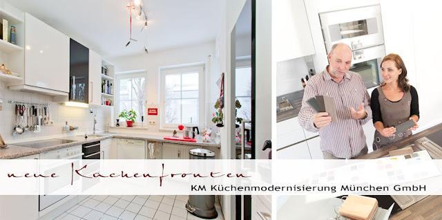 Sie finden Ihre Küche o.k. - aber langweilig? Umgestalten! Mit neuen Fronten im angesagten Glamour-Desing Hochglanz schwarz weiss liegen Sie absolut im  aktuellen Wohntrend!