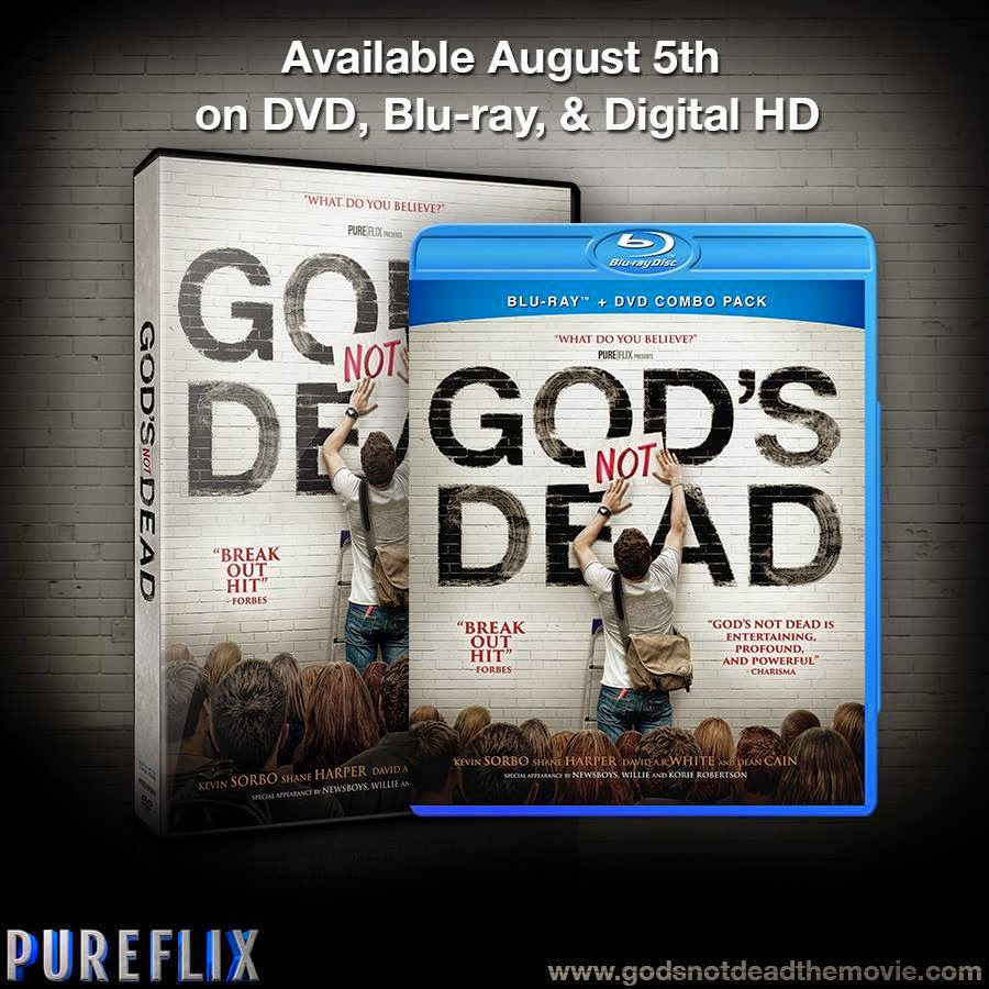 God's Not Dead Available August 5th on DVD, Blu-Ray, and Digital HD Wherever DVD's Are Sold.