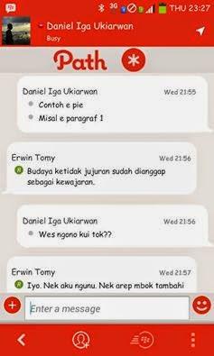 BBM Mod Tema Path Talk Versi 2.8.0.21 Apk (BBM Android)