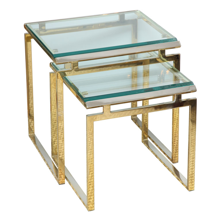 The King Daddy Of All Small Space End Tables Would Be A Set Of Lucite  Nesting Tables.