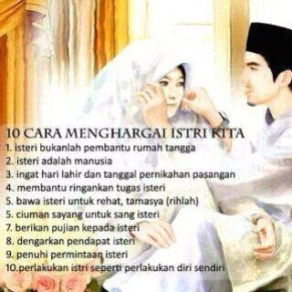 10 Cara Menghargai Istri kita