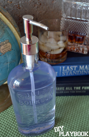 This bourbon bottle soap dispenser was easy to make and is a great gift.
