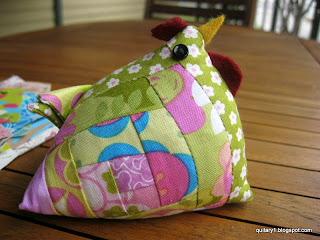 Scrappy Swap Chicken Pin Cushion