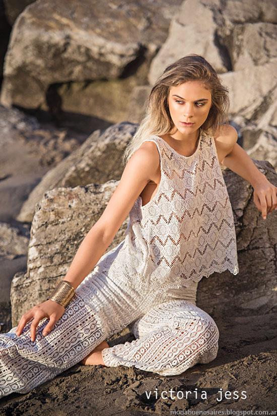 Tops, blusas y pantalones de moda verano 2016. Victoria Jess primavera verano 2016.