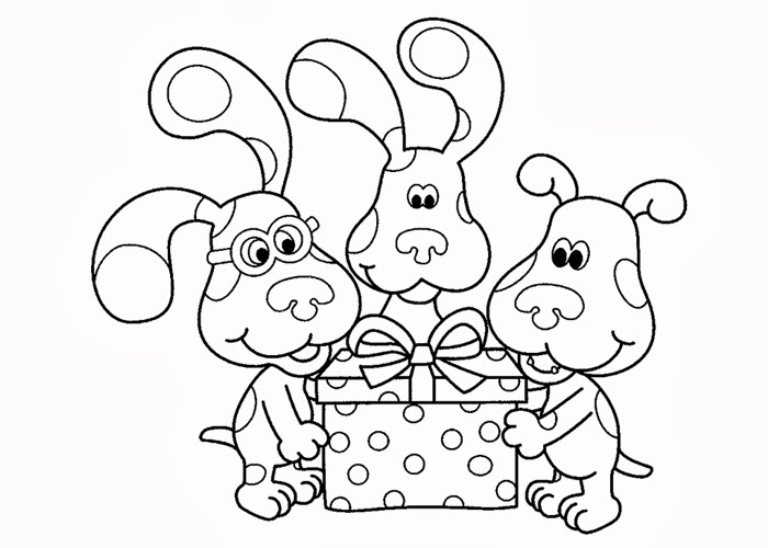 blues clues coloring pages for kids
