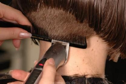 clippered nape clippering undercut clippering with ponytails side cut ...