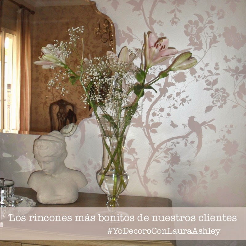 Decoración clientes Laura Ashley - Rosa talco