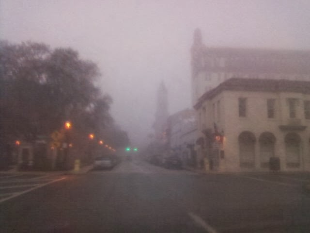 Foggy Morning in St. Augustine, FL ! Good Morning from the St. Francis Inn! 6  fog+staug St. Francis Inn St. Augustine Bed and Breakfast