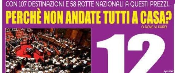 Fucsia consulting la nuova pubblicit di ryanair dedicata for Lavorare al parlamento italiano