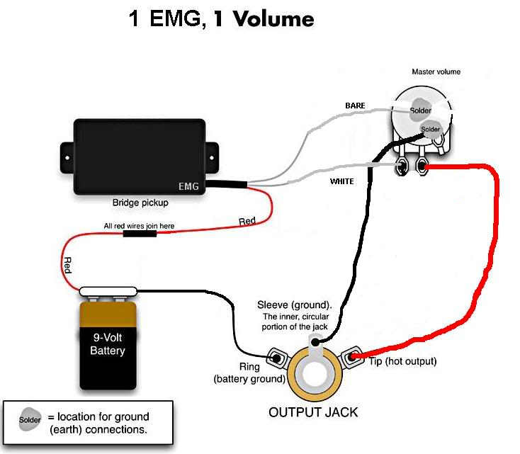 emg guitar pickup wiring diagram  emg  free engine image