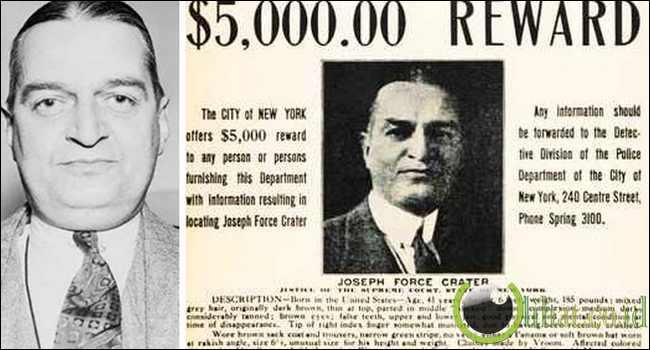 Jodge Joseph Force Crater, 1930